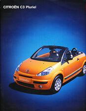 2003 Citroen C3 Pluriel German Prospekt Sales Brochure