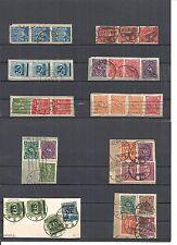 Deutsches Reich 1919 - 1923, verschiedene Briefstücke aus MiNrn: 141 - 288 o