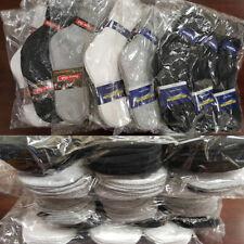 Men Women Crew Socks Sports Casual Cotton Black White Gray Wholesale 9-11 10-13