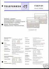 Telefunken Original Service Manual für P 300 / 301