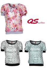 QS by s.Oliver Damen Bluse | Rundhals Muster Urlaub Party Freizeit  UVP 39,95€