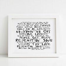 Bob Marley Poster, Legend, Framed Original Art, Album Print Lyrics Gift
