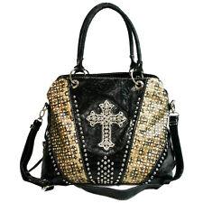 Western Bling Cross Rhinestone Fashion Purse Handbag