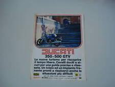 advertising Pubblicità 1978 MOTO DUCATI 350 - 500 GTV