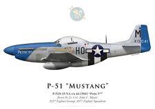 "Print P-51D Mustang ""Petie 3rd"", Lt.Col. J. Meyer, 487 FS, 352 FG (by G. Marie)"