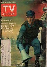 1976 TV Guide January 31-Desi Arnaz-I love Lucy; Rich Man Poor Man; SWAT;Nevada