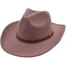 Major Wear Quality 100% Wool Felt Cowboy Hat (Shapeable Rim) - 2 Colours 4 Sizes