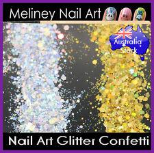 Silver Gold Glitter Nail art Confetti Decoration Manicure Party comb
