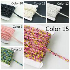 2M Beads Trim Ribbon Sewing Craft Costume Edging Decor DIY Accessory Multi Color
