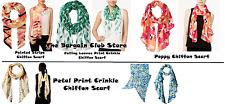 Calvin Klein Womens Paint Stripe, Poppy , Petal Print OR Leaves Chiffon Scarfs