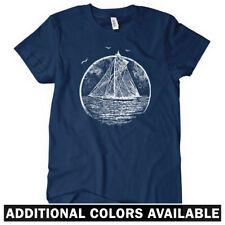 Vintage Sailboat Women's T-shirt S-2X - Gift Sailing Boat Sails Ocean Sea Marina