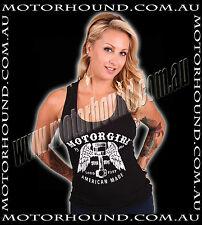 BN MOTOR GIRL PISTON CON ROD LOUD & FAST CARS ANGEL WINGS TANK TOP 8 10 12 14