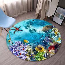 3D Colorful Seabed 054 Non Slip Rug Mat Room Mat Round Quality Elegant Carpet AU