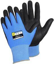TEGERA 887 Nitrile Coated Work Gloves Reinforced Grip Water Oil Repellent