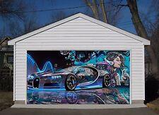 3D Beauty, car Garage Door Murals Wall Print Decal Wall Deco AJ WALLPAPER AU