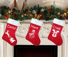Luxury Velvet Personalised Santa Father Christmas Snowman Rudolph Sack Stocking