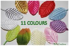 50, 100 pcs poly satin leaves leaf, floral florist craft supply,11cm, scrapbook