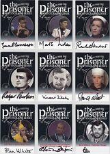 The Prisoner Volume 1 & 2 Auto Autograph Card Selection