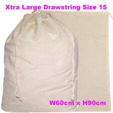 Very Large Calico Bag Bulk Drawstring A1 Calico Bags Linen Bag H90 x W60cm  S15