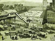 BROOKLYN BRIDGE CITY HALL NYC 1881 Antique Print Matted