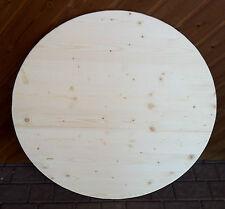 Tischplatte rund Fichte Dreischichtplatte stabil 27mm stark Stehtisch Bierganitu