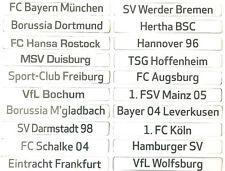 Magnet Schriftzug - AMBALLCOM verschiedene Vereine - Bundesliga - 2. 3. Liga RL