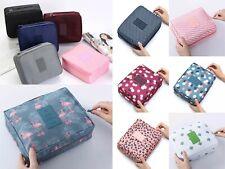 Waterproof Zipped Travel Cosmetic Make up Organizer Bags UK Seller