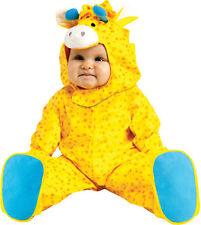 Giraffe Cute Infant Yellow Costume Jumpsuit And Hood Halloween Dress Up Funworld