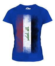 IRAQ FADED FLAG LADIES T-SHIRT TEE TOP AL-'IRAQ IRAQI IRAQ SHIRT FOOTBALL