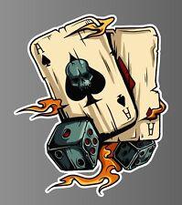 Aces dice gambling sticker vinyl decal