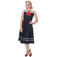 Dancing Days Rockabilly Pin Up Sailor Vintage Matrosen Kleid - Aquarius Schleife