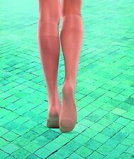 1 Pair WELL SENSATION SPA 19 Denier Transparent  Knee Highs Socks Anti Heat