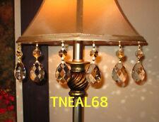 6 REAL CRYSTAL Magnetic Teardrop ALMOND SHAPE Chandelier Lamp  Ornament AAA