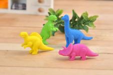 4-64 PC Dinosaurios Animal Lindo Divertido Novedad gomas de borrar niños Gomas Fiesta Bolsa Relleno