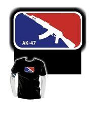FUN T-Shirt * MAJOR LEAGUE AK 47 * KALASCHNIKOW gun shotgun * für Gamer & Nerd