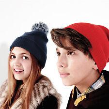 Beechfield Kids snowstar Duo Beanie Chicos Chicas de invierno cálido Bobble Sombrero