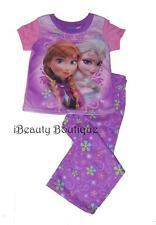 Disney Frozen ELSA ANNA Pajama PJ's Sleepwear Shirt/Pants Set 2pc PURPLE Girls