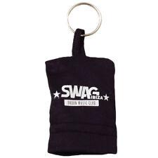 Swag Ibiza Keyring Sunglasses Cleaner Cloth Black Key Chain Fob