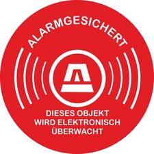 Alarmgesichert - Elektronisch überwacht - Aufkleber