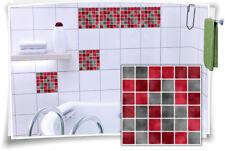 Fliesenaufkleber Fliesenbild Fliesen Aufkleber Fliesenimitat Mosaik Rot