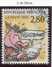 STAMP / TIMBRE FRANCE OBLITERE N° 2842 BD BONNE FETE