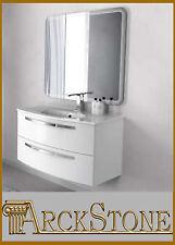 ARCKSTONE Mobile Arredo Bagno Moderno Sospeso Specchio Lavabo Design James 100cm