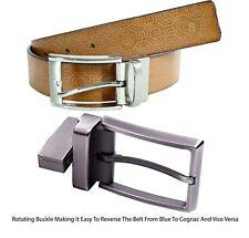 Nuevo Para hombres Cuero Genuino Hebilla Giratoria Estampado Tribal Cinturones Hebilla De Pin S-XXXL