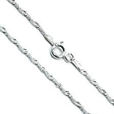 925 Maciza italiano de plata esterlina giro Collar De Cadena 1.5 mm