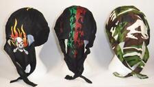 7 or 14 pc lot skull cap hat do doo rag assortments skulls fire camouflage flag