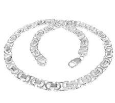 Königskette flach / Etrusker Kette L40-100cm 925 Silber  (von 4,6mm bis 17mm)