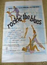 ROCKIN THE BLUES Black Cast Mantan Moreland '56 movie poster Harptones