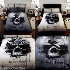 Rebel Heart serpent crâne/Sacred Heart Gothique/vintage parure de lit literie