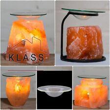 Lámpara de Sal Natural del Himalaya Quemador de Aceite de Aroma Vela Tarta Calentador Portacandelitas