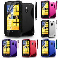 Schutz Hülle für Nokia Lumia 620 TPU Silikon Flip Case Cover Etui Schale
